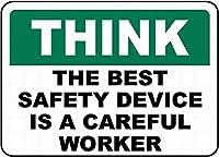 最高の安全性は注意深い壁の金属のポスターですレトロなプラークの警告ブリキの看板ヴィンテージの鉄の絵の装飾オフィスの寝室のリビングルームクラブのための面白いハンギングクラフト