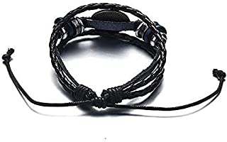 SOLDOUT™ American TV Show Friends Bracelet White Print Leather Bangle For Men Women Kids Best Friend Jewelry Gift (White)