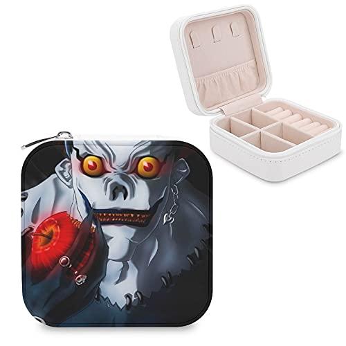 Death NoteJewelry Caja de almacenamiento para joyas, compartimento para la administración del hogar, viajes, pendientes y collar de moda