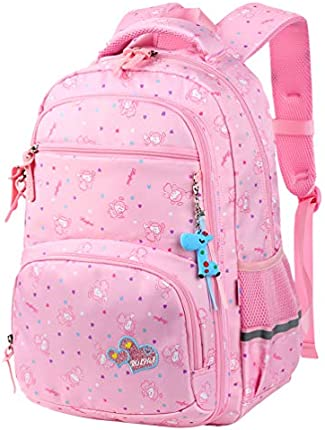VBG VBIGER Mochila escolar unisex linda bolsa par libros para niñas y niños grande y ligera, bolsa de día