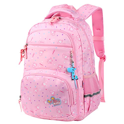 VBG VBIGER Unisex School Backpack Cute Book Bag for Girls Boys Large and Lightweight Daypack (Pink K)