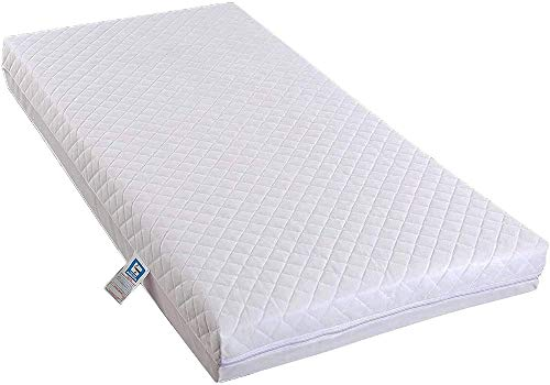 Toddler Cot Bed - Cot Mattress Cot Bed Fully Breathable Foam Mattress & Poly Cotton Cover for Baby Comfort 120cm x 60cm x 7.5cm by TOP STYLE COLLECTION