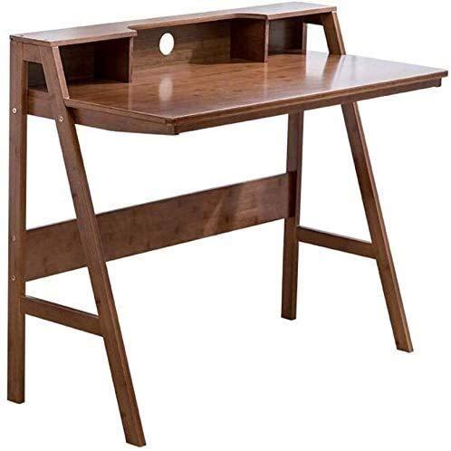 Leilims Tabelle Mobili di bambù Naturale di Scrittura Computer Desk Studio Figli Studenti Home Office (Color : Maroon)