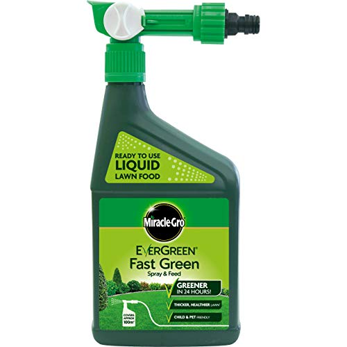 Scotts Miracle-Gro Evergreen - Spray Fertilizzante per Prati, 100 m²