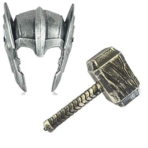 Towel Rings Martillo De Thor De Marvel Personajes De Héroe De Halloween Vengadores Adultos Niños Thor Casco Máscara Accesorios Thor Hammer