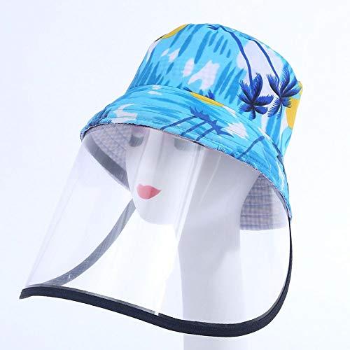 WEDFGX Cappellini da Ciclismo per Adulti Chidrens Cappello ProtettivoAntipolvereStampatoCappuccio AntipolvereCopricapo BiciCappello da Pescatore