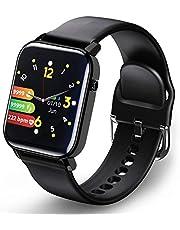 Smartwatch, Fitnesshorloge Fitness Tracker Horloge 1.4 Volledig touchscreen Smart Watch IP68 Waterdicht Sporthorloge met hartslagmeter Stappenteller Slaapmonitor Mannen Vrouwen Kinderen Activiteitstracker voor iOS Android