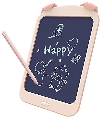 Xyfw Tableta De Escritura LCD Digital De 10,5 Pulgadas para Niños, Tableta De Dibujo, Almohadillas De Escritura A Mano, Tableta Gráfica Electrónica Portátil Ultrafina,Flesh