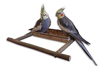 Planche de siège faite à la main en bois naturel – perchoir | Accessoire pour perruche ou cage à oiseaux