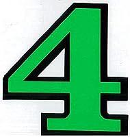 (シャシャン)XIAXIN 防水 PVC製 ナンバー ステッカー 耐候 耐水数字 ゼッケン キャラクター 表札 スーツケース 背番号 ネームプレート ロッカー 屋内外 兼用 TS-139GRB (1点, 4)