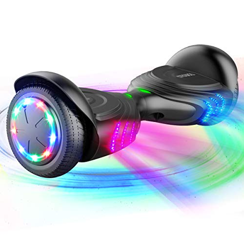 TOMOLOO Hoverboard, Electric Self-Balancing Smart Scooter, UL 2272 Certified Hover Board 6.5 Two-Wheel with Music Speaker and LED Light.