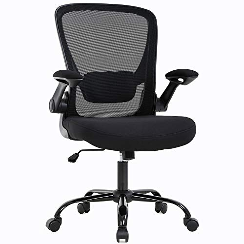 SuccessfulHome Home Office Chair, Ergonomic Desk Chair, Computer Chair, Arms Swive Modern High Back and High Mesh, Executive Chair with Adjustable Lumbar Support Arms Headrest (Black)