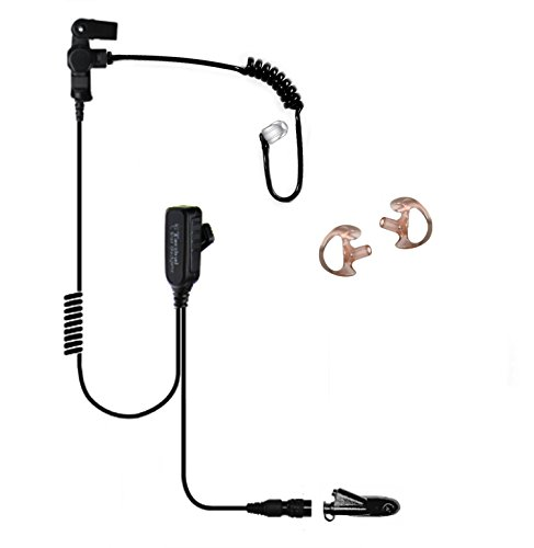 Tactical Ear Gadgets Hawk Lapel Microphone with Quick Release for Motorola HT1250 HT750 HT1550 (Black Tube)