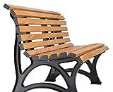 Blome Helgoland Gartenbank aus Kunststoff 3-Sitzer in Holzoptik - 2