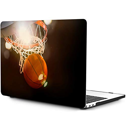 OneGET MacBook Pro 13 Inch Case with Touch Bar Laptop Case MacBook Pro 13 Inch 2016 2017 2018 2019 Release A2159 A1989 A1706 A1708 Cover for MacBook Pro Case 13 Inches Hard Basketball (S29)