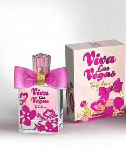 Viva Las Vegas Fabulous-Eau de Parfum Spray Perfume, Fragrance For Women - Daywear, Casual Daily Cologne Set with Deluxe Suede Pouch- 3.4 Oz Bottle- Ideal EDP Beauty Gift for Birthday, Anniversary