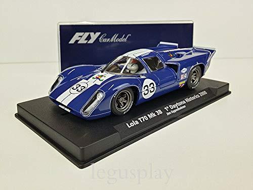 FLy Slot Car SCX Scalextric 88119 Compatible Lola T70 MK 3B 1º Daytona Historics 2000 C-94