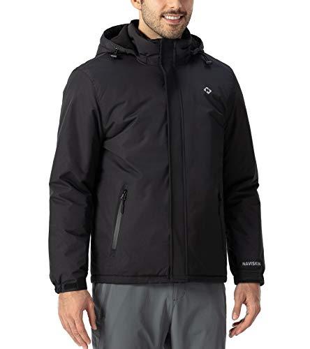 NAVISKIN 3 in 1 Giacca in Pile Invernale Uomo Impermeabile, Giubbino Antivento Uomo, Cappotto da Sci, Giacchette Uomo Invernale da Snowboard all'Aperto, Perfetto per Escursione e Sciare