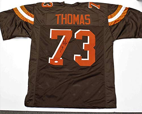 Authentic Autographed Joe Thomas Cleveland Browns Custom Jersey ~ JSA