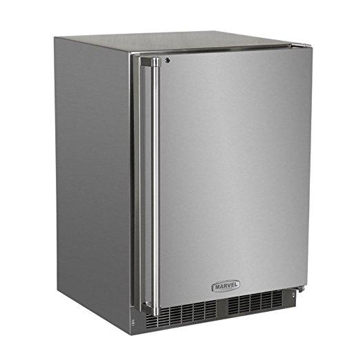 "Marvel MO24RFS2RS Outdoor Refrigerator and Freezer, Solid Door with Door lock, Right Hinge, 24"", Stainless Steel"