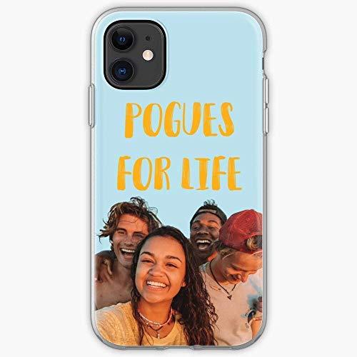 YFHCK Cubierta Suave de TPU a Prueba de Golpes para iPhone 12/11 Pro MAX 12 Mini SE X/XS MAX XR 8 7 6 10s Plus Case TV Outer Netflix Show OBX Banks Cajas de teléfono Pure Clear