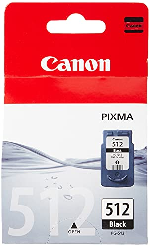 Canon PG-512XL Cartucho de tinta original Negro XL para Impresora de Inyeccion de tinta Pixma MX320,330,340,350,360,410,420-MP230,240,250,252,260,270,272,280,282,480,490,492,495,499-IP2700,2702