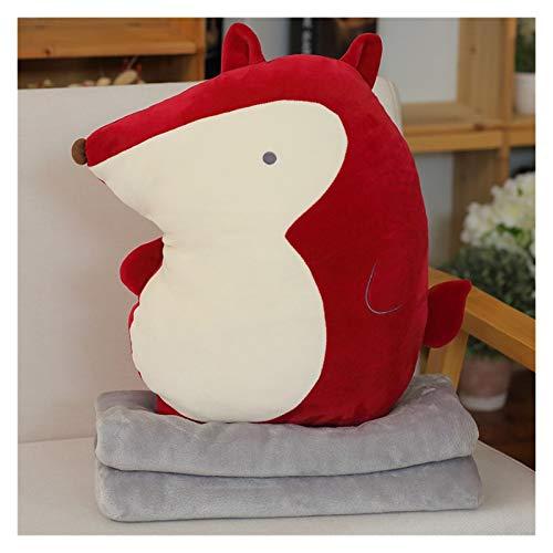Jgzwlkj Plush toy 2021 New Kids Plush Toys Doll Pillow Pillow Pillow Multi-function Cartoon Blankets Plush Animals (Color : Red)