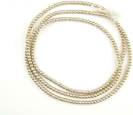 Kansas City Mall 3 Mm African Silver 30 Inch Round High quality new Metal E Strand White Handmade