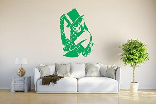INDIGOS UG - Wall sticker / Wall Tattoo / Decoration - Skull Girl Gothic - green - 80x54 cm