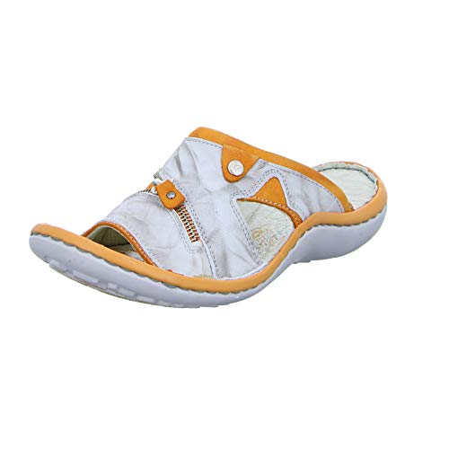 KRISBUT Damen Pantolette 2209 Orange Grau (Grey) Größe 42 EU