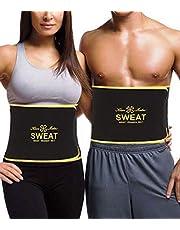 DUROFIT kvinnor bantning svettband fett brännare midja tränare trimmer cincher form justerbar svart S