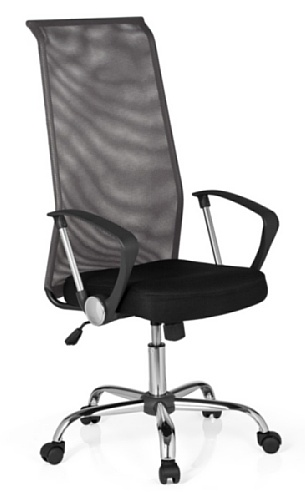 hjh OFFICE 685330 Bürostuhl, Chefsessel Kio Net 200 Netzstoff, schwarz/dunkelgrau/Chrom