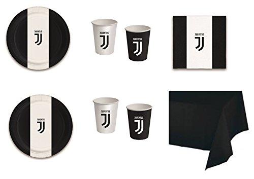 Gecombineerd sport Calcell F.C. Juventus voor serres, geschikt voor feesttentgarnituur, 20 Cdc- (16 koekjes, 16 flessen, 20 potjes, 20 servetten, 1 servetten, 1 stuk, kleur