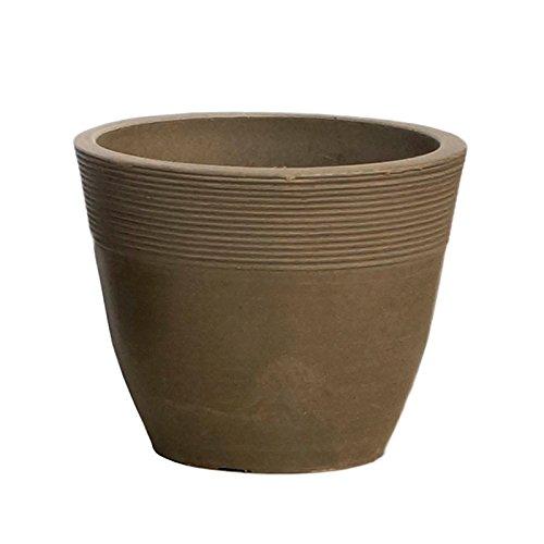 【Planterior】 ハイドロカルチャーに の鉢 ストーンウッドポット M 各色 (ベージュ)