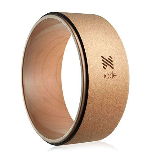 "Node 13"" Professional Cork Yoga Wheel - Wood Grain from Node"