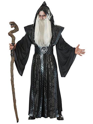 California Costumes Herren Dark Wizard Adult Man Costume Kostüme für Erwachsene, schwarz, X-Large