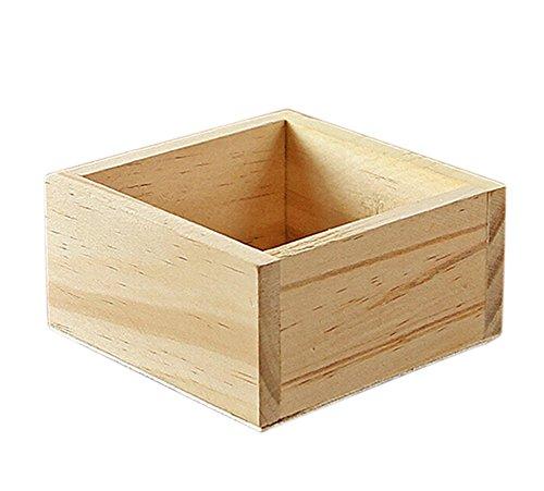 Kentop Ordnungsbox Holzkiste Aufbewahrungskiste Universal Holzbox ohne Deckel für Aufbewahrung