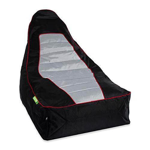 Green Bean  Zone3 Lounge Chair - Gaming Sitzsack 90x55x75 cm - 150L Füllung - erweiterbar, Abnehmbarer Bezug, wasserabweisend, schmutzabweisend - Gaming Stuhl für Kinder & Erwachsene - Race