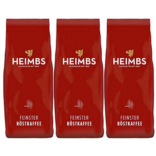 HEIMBS Gastronomie Mischung Feinster Röstkaffee, 500g ganze Bohne, 3er Pack