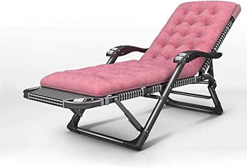 Tumbona, sillas de salón clásicas Tumbona/Tumbona de jardín Oficina para el Almuerzo Silla para Almuerzo Textoline de Alta Resistencia Plegable Reclinable con Almohadillas de cojín Respaldo Ajusta