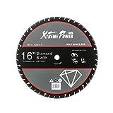 XtremepowerUS Multi-Purpose 16' inch Diamond Blade Metal Steel Iron Cut Off Saw Wheel Abrasive, 1' Arbor Ultra Fast Cutting Blade
