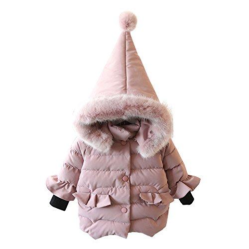 Mbby Cappotto Di Piumino Bambina , 0-5 Anni Invernale Capispalla Per Ragazze Con Cappuccio In Cotton Caldo Leggero Addensare Antivento Giacche Imbotti