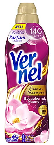 Vernel Aromatherapie Bezaubernde Magnolie, Weichspüler, 34 (1x34) Waschladungen, für einen langanhaltenden Duft und traumhaft weiche Wäsche