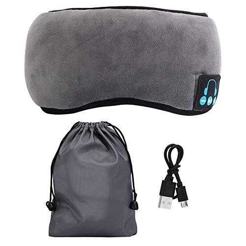 Preisvergleich Produktbild Oumefar Eyeshade mit Stereo-Kopfhörer,  Supprot Wireless 5.0 Stereo Sleep Eye Mask Augenschutz für Reisende Männer Frauen(Grau)