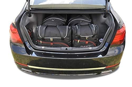 KJUST Dedizierte Kofferraumtaschen 4 STK kompatibel mit BMW 7 F01 2008 - 2015