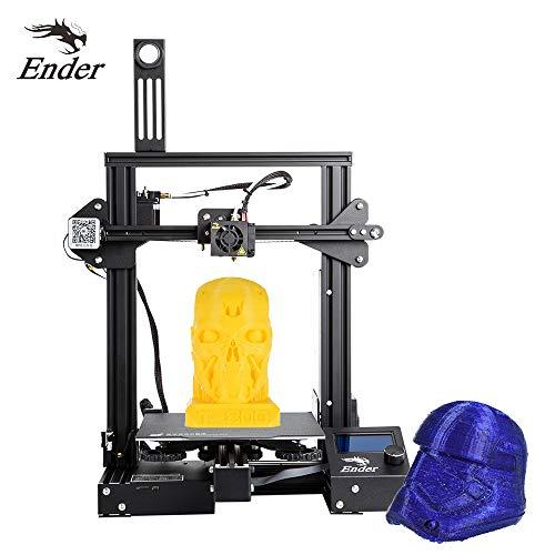 Leslaur Extracteur de kit MK-10 de bricolage;imprimante 3D de haute précision de Creality 3D Ender-3 avec la fonction d'impression de reprise de support de lit chauffant taille;impression 220
