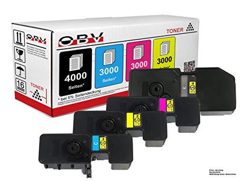OBV 4X kompatibler Toner als Ersatz für Kyocera TK-5240 für Kyocera ECOSYS M5526cdn M5526cdw P5026cdn P5026cdw schwarz, Cyan, Magenta, gelb