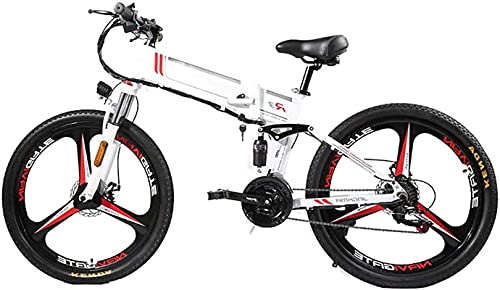 Bicicleta electrica Bicicleta eléctrica plegable para adultos, tres modos ASISTE ASSISTE EBICE MONTAÑA MOTOR ELÉCTRICO 350W MOTOR, PANTALLA LED Bicicleta eléctrica de la bicicleta, portátil fácil de a