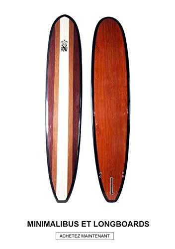 HONU Longboard 9'6Acabado Bamboo–Long Board Retro + 3derives