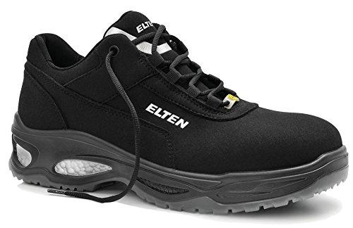 ELTEN MILOW Low ESD S2 Herren Sicherheitsschuhe, Arbeitsschuhe, Sicherheitshalbschuh, Zertifiziert nach EN ISO 20345 : S2, Kunststoffkappe, Wellmaxx (Schwarz), EU 43